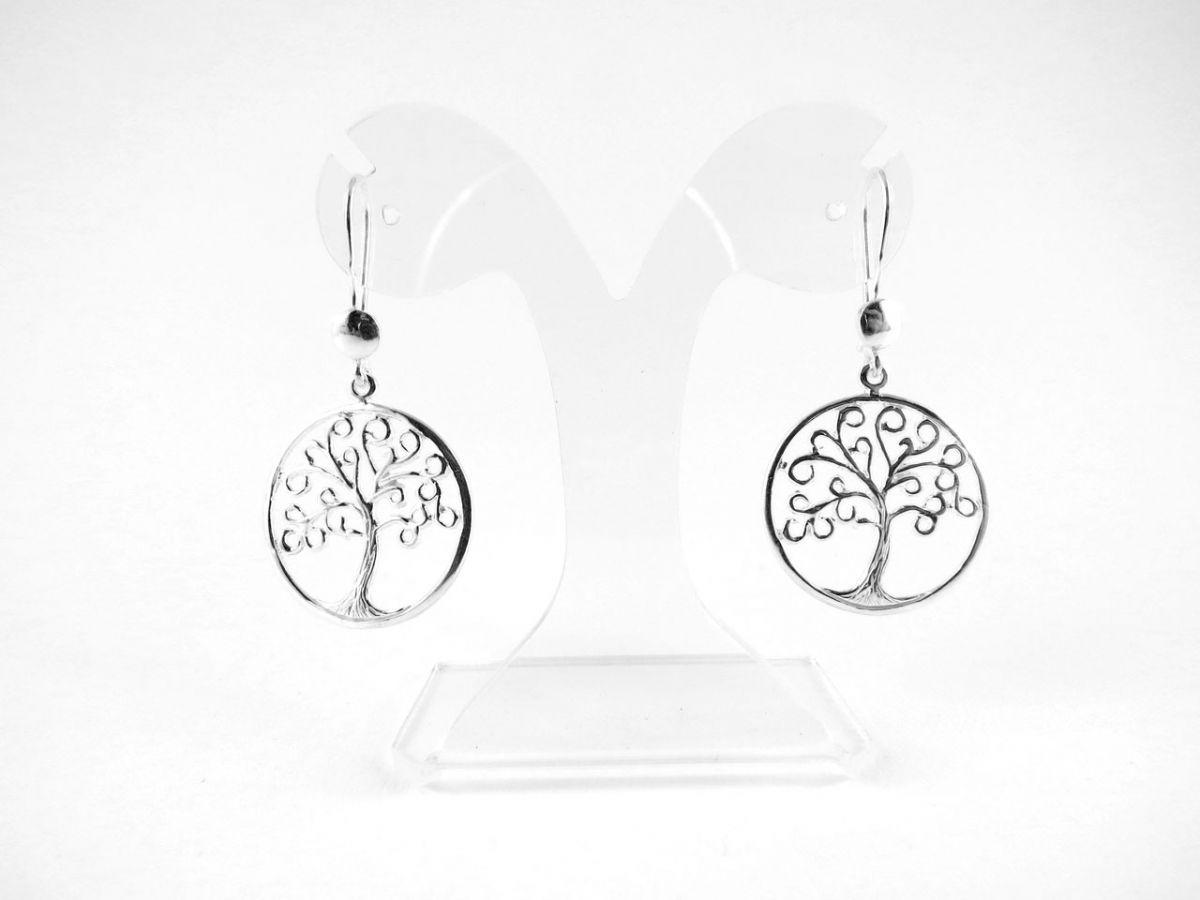 online eladó online lenni online eladás Életfa ezüst lógós fülbevaló